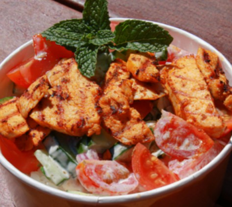 Tandoori chicken bowl