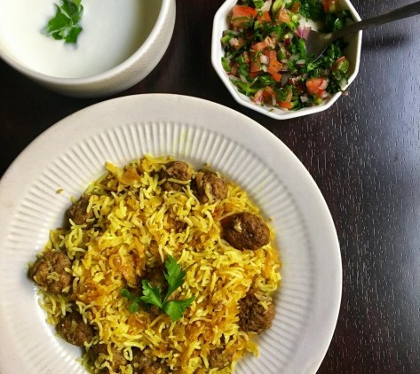 Emenu Recipes Persian Meatballs With Saffron Rice