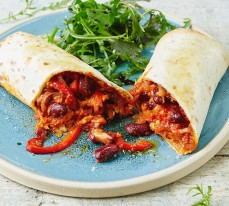 Vegetarian Kidney Bean Wraps (Mexican)