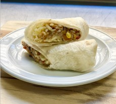 Loaded Burrito with a Twist (vegetarian)